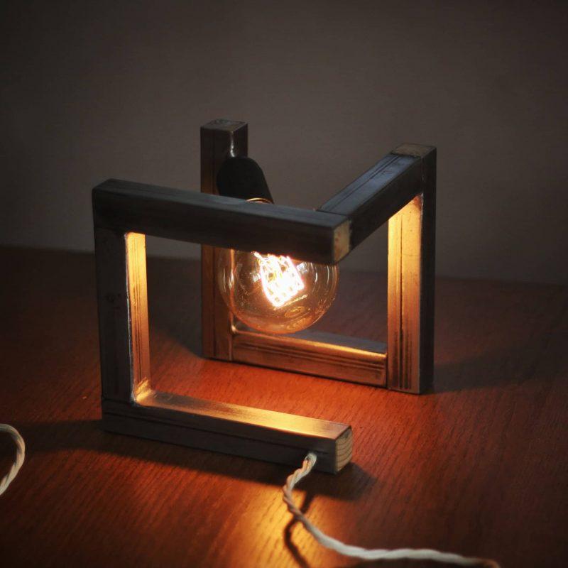 Lampada di design in metallo – lampada da tavolo vintage – parma | T004