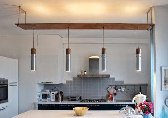 Lampadario cucina domotico design