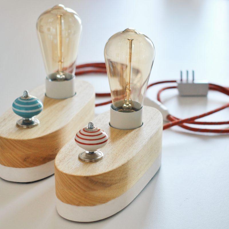 Lampada in legno – legno naturale – dimmer – lampade design parma | T020
