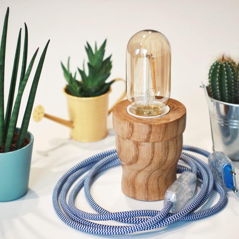 Serie Flora – Lampada cactus – legno naturale – interior – lampade design parma | T028